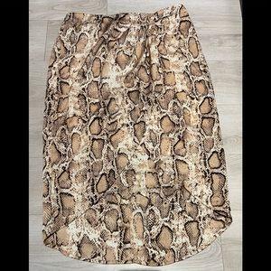 Gilli Snake Print Crossover Skirt